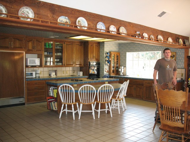 Big open kitchen to great room, has commercial size and grade refrigerator and addtional full freezer, stove and oven and comes fully furnished with cooking equipment, dinnerware and paper goods, too! Can seat 30 plus people in kitchen area with more tables they have.