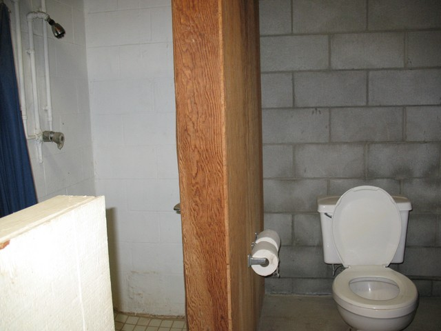 This is the men's bathroom and shower for the bunk house, but we can use it for the people in the house also, if needed. It has a separate outside/outdoor entrance.